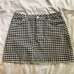 TOPSHOP Moto Gingham Mini Skirt